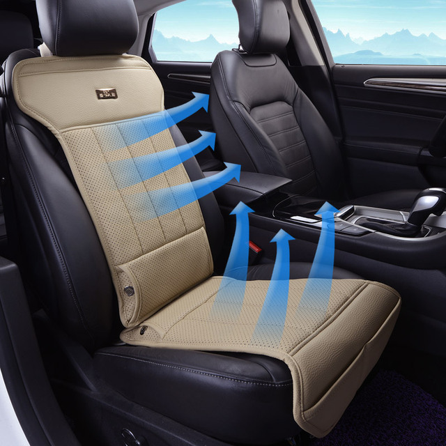 Universal Car Seats Cushion 12v Cooling Seat Cushions Not Moves Single Fan Pu Leather