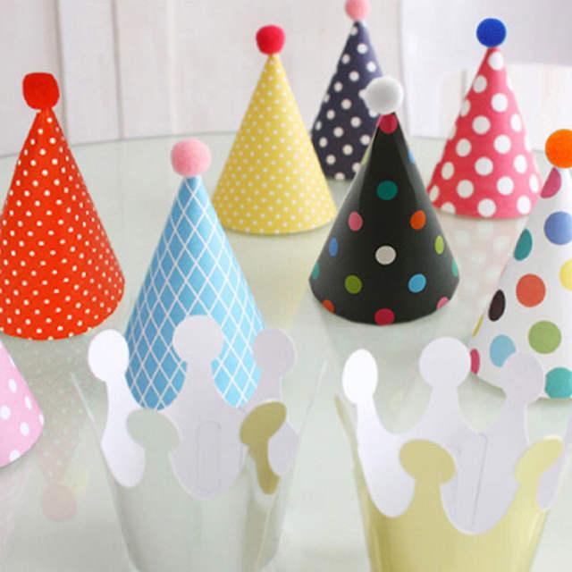 Online Shop 11pcs Set Party Celebration Korean Cute Hats Birthday Hat Festive Photograph Items Decorations Kids