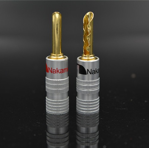 50 New Design Hallow Nakamichi Speaker Banana Plugs 24K Gold Plated 4mm Plug Connector Red Black Color - DDUP Mall store