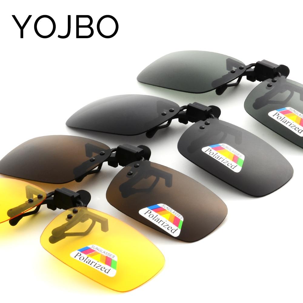 YOJBO Night Vision Women Men Clip On Sunglasses Designer Brand Polarized Sun Glasses Yellow Driving Glasses Gafas De Sol