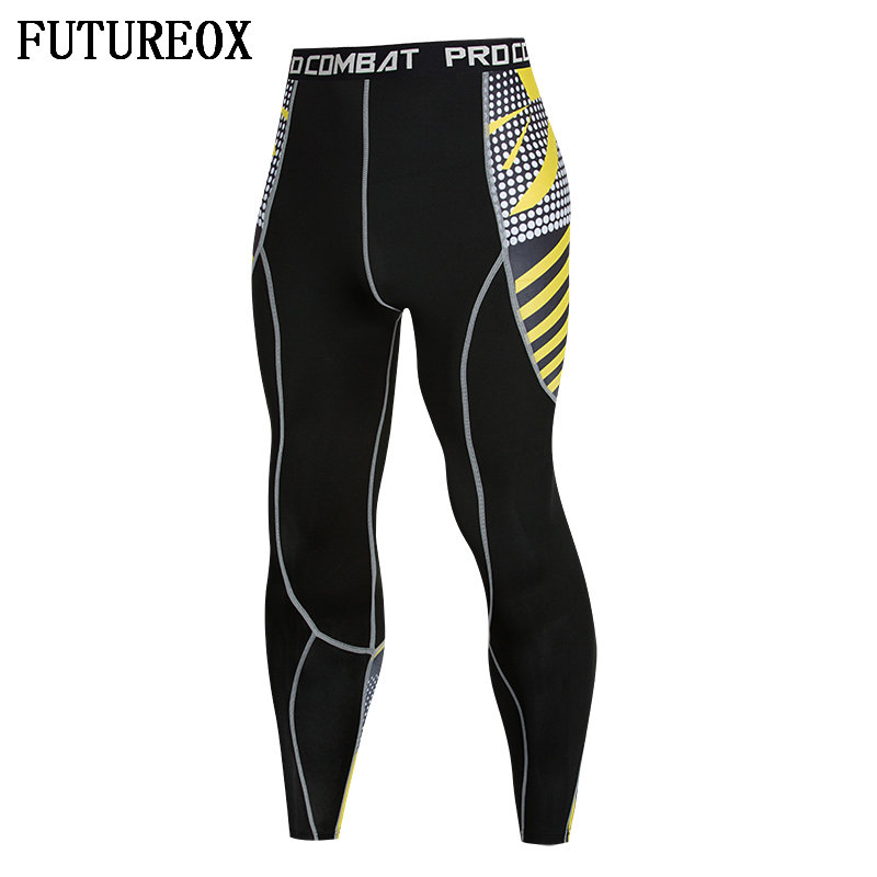2018 New 3D Printed Pattern Compression Skinny Pants Mens Sweatpants Star Dot Fitness Bodybuilding Sweat Quick-drying Leggings