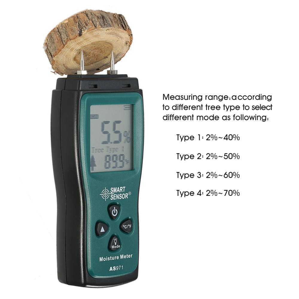 Analysatoren Digital Holz Feuchtigkeit Meter 0-99% Holz Feuchtigkeit Tester Zwei Pins Holz Damp Detector Tester Sensor Mit Großen Lcd Display