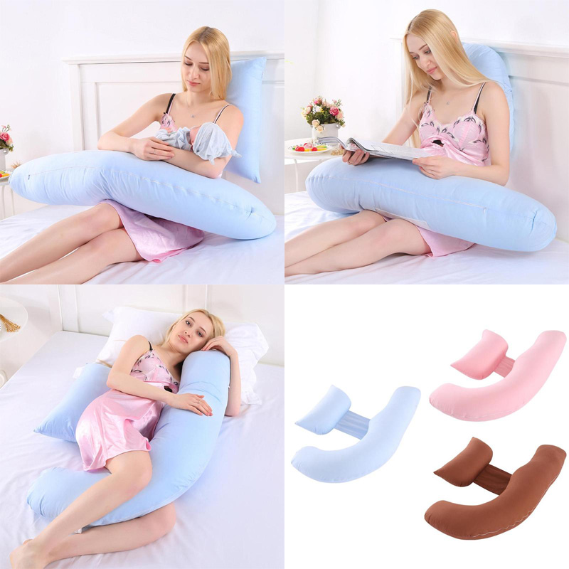 New Sleeping Support Pillow For Pregnant Women Body Cotton Pillowcase U Shape Maternity Pillows Side Pregnancy Sleepers Bedding Подушка