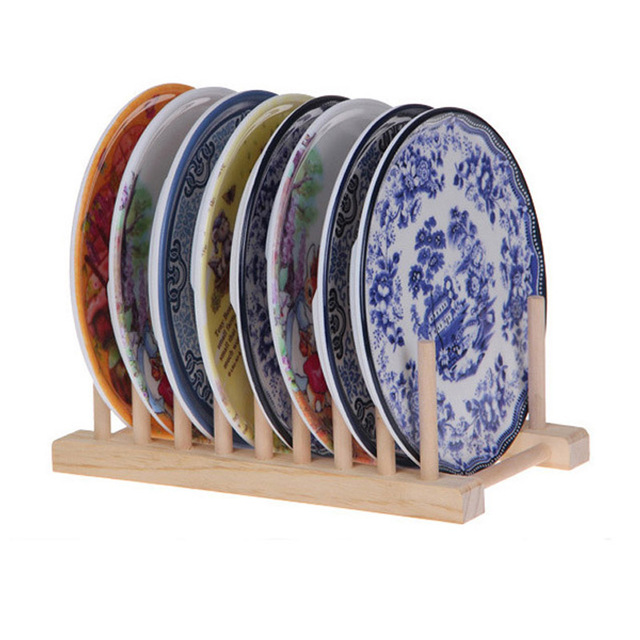 Kitchen Foldable Dish Plate Drying Rack Organizer Drainer Wooden Storage Holder Sink Drying Rack Kitchen Accessories