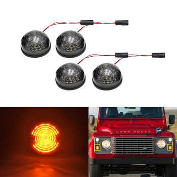 4x 73mm Amber F&R Led Side Marker Turn Signal Indicator Light For Land Rover Defender 90/110 1983-2016 Series 1 2 3 Car-Styling