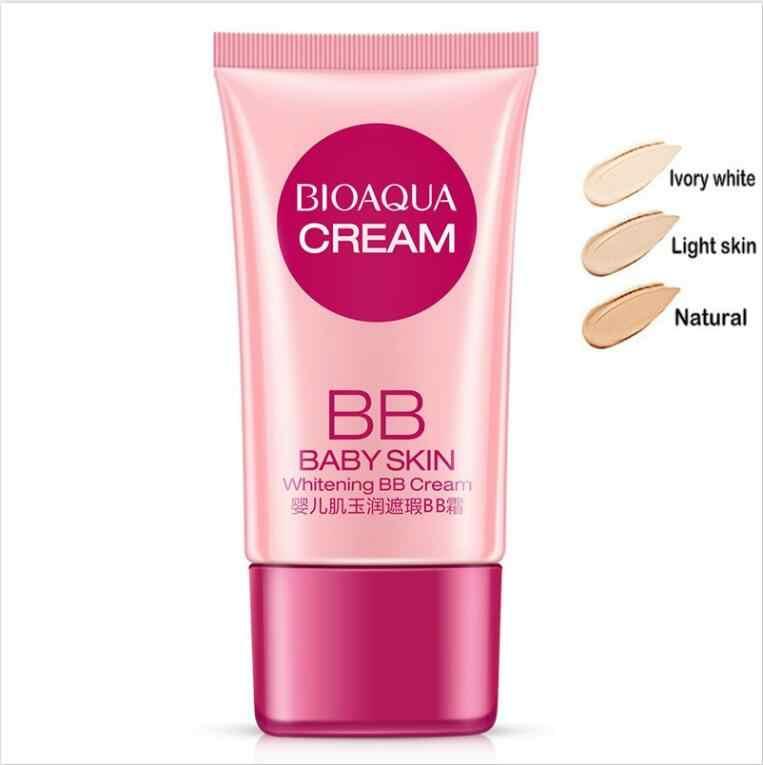 BIOAQUA 3 ألوان غطاء BB كريم خافي للعيوب تبييض ترطيب قاعدة الوجه الأساس ماكياج BB كريم