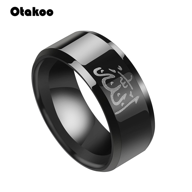 Jewelry & Accessories New Ethnic Style Ring Arab Mens Religious Totem Ring Middle East Muslim Islamic Quran Ring Tungsten Carbide Rings177