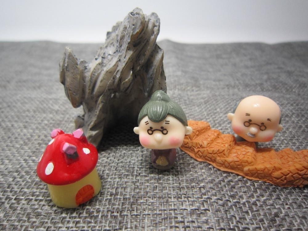 5 pieces old men women rockery Stairs mushroom house fairy garden gnome/moss terrarium decor/crafts/bonsai/bottle garden