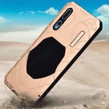 Oryginalny IMATCH codzienny wodoodporny pokrowiec do Huawei P20 / P20 Pro luksusowy metalowy silikonowy pokrowiec Coque 360 pełna ochrona etui na telefony