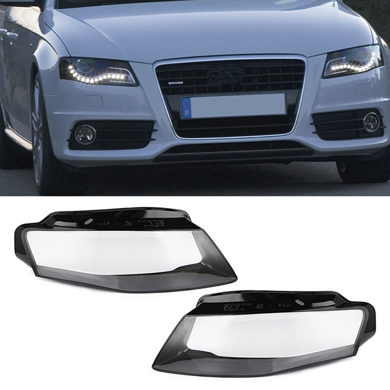 Car Left and Right Front Kit Cover Lens Headlight Fit FOR Audi A4 B8 2009-2012 1 Pair new 1 pair car left