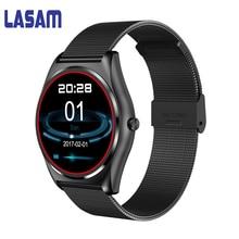 Lasam Smart группы с монитор сердечного ритма Bluetooth Smart Band Беспроводной зарядки Поддержка напоминание фитнес SmartBand