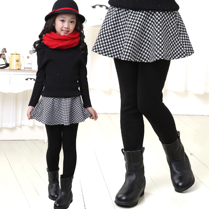2019 Baru Musim Dingin Pakaian Anak Perempuan Pakaian Beludru Legging Kulot Fashion Houndstooth Rok Celana Kulot Usia 3 15 Tahun T Kids Skirt Kids Girls Skirtgirl Kids Skirt Aliexpress