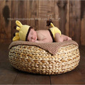 New Creative Handmade round Basket Newborn Baby Infant Photography Prop Basket Posey posing Pillow Studio props Box