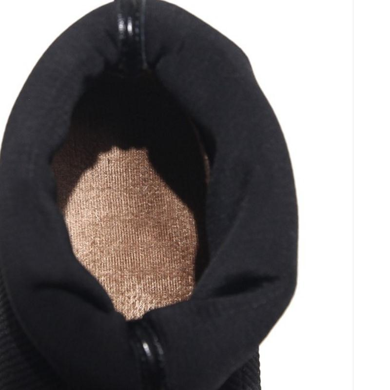 De Tacón Pie Resbalón Alto Invierno Los Media En Pantorrilla Tamaño Dedo Del Mujeres Nightcherry 43 Zapatos vino Elástico 34 Cuero Tinto Negro Real Botas Grueso Cuadrados vw8q0aT