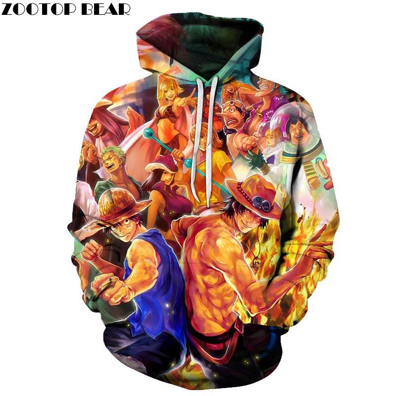One Piece Family 3D Print Brand Casual Hoody Sweatshirt Men Tracksuit Hoodies Pullover Streetwear Male Coat DropShip ZOOTOPBEAR