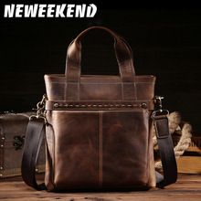 100% genuine leather men bag crazy horse leather men's handbags casual business shoulder bag briefcase messenger bag laptop 8029 new genuine leather men s handbags retro crazy horse leather men tote bag shoulder messenger business men briefcase laptop bags