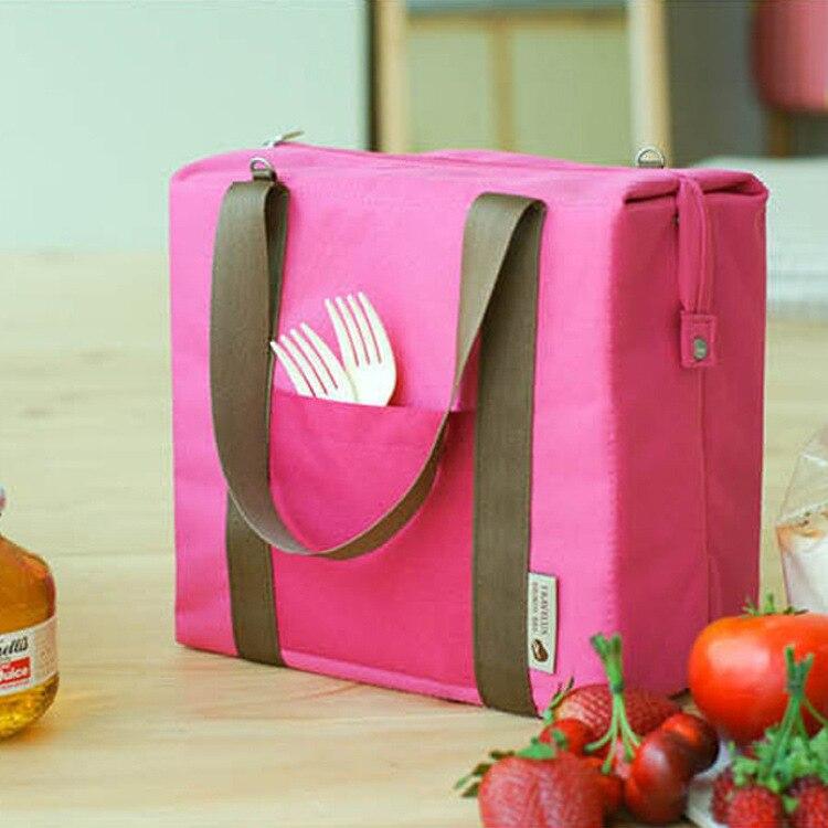 2 Teile/los Umweltfreundliche Große Isolierte Kühltaschen Mehrweg Mittagessen Tasche Für Wein Essen Textile Faltbare Heraus Tür Picknick Kühltasche
