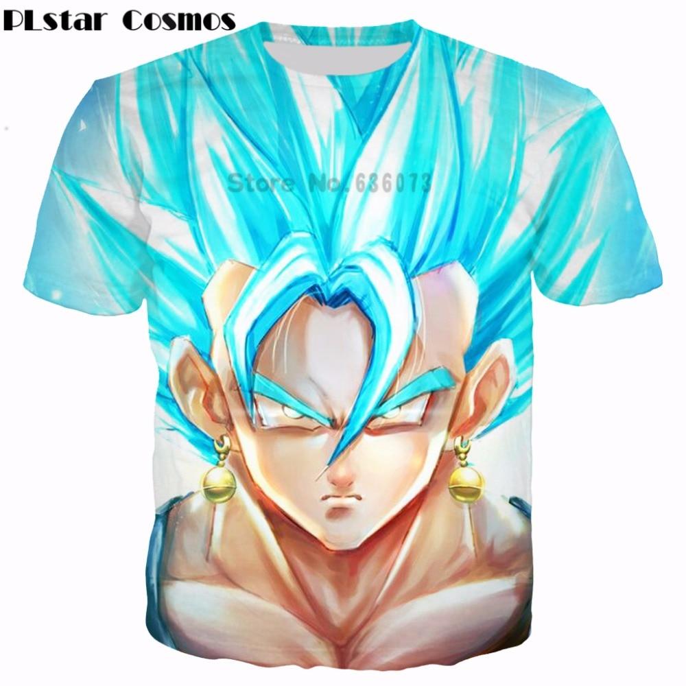 Cosmos PLstar Anime Dragon Ball Z Super Saiyan camiseta 3D bonito Goku  Impresso t camisas Das Mulheres Dos Homens de Moda camisas casual t em  Camisetas de ... 9adaffd4a37