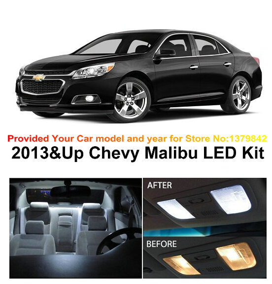 Free Shipping 5pcs Lot Car Styling Xenon White Canbus Package Kit Led Interior Lights For Chevy Malibu 2017 Up In Signal Lamp From Automobiles
