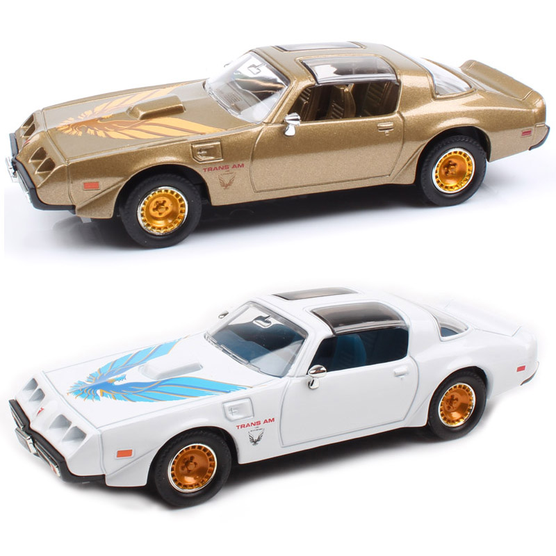 1:43 Mini 1979 Pontiac Firebird Trans AM Classic Old Muscle Scale Car Vehicle Auto Metal & Diecast Model Toys Gold Gift For Boys