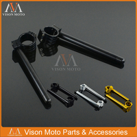 Motorcycle 7/8 22MM Clip On Adjustable Handlebar Fork Clamp 31/33/35/36/37/38/39/40/41/43/45/46/47/48/50/51/52/53/54/55 mm CNC