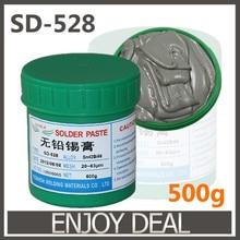 ГОРЯЧАЯ Продажа! SD-528 низкая температура SMT свинца SMT Паяльной Пасты 500 г Sn42Bi58