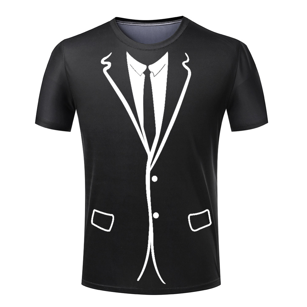Alisister Hot Cheap Men T Shirt Tuxedo T Shirts 3D Print