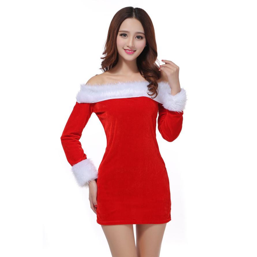 Winter Women Dress Sexy Santa