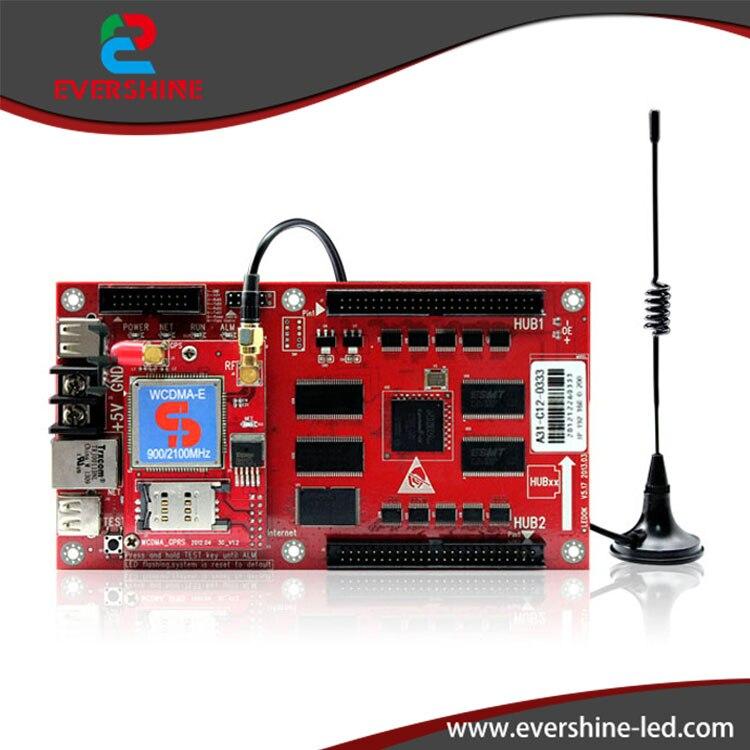 XiXun A31 3G RGB  LED Display Controller Card  Integrate GPRS modem Usage in Global Area For P10. P16. 16 ports 3g sms modem bulk sms sending 3g modem pool sim5360 new module bulk sms sending device