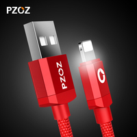 Pzoz Data Cable For iPhone Charger Lighting Cable Fast 2m ios 10 USB For iphone 6 s 7 plus i6 i5 iphone 5 5s Mobile Phone Cabel