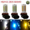 1PCS Led H11 66 SMD 2835 LED Vehicle Car Fog Headlight Driving Light Daytime Running DRL Bulb Lamp External Lights Free Shipping