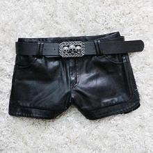 hot  New Autumn And Winter Europe The United States Leather Shorts Women Thin Pu Slim Sexy Leather.