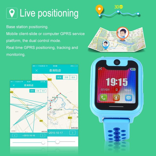 S6 Children Smart Watch kids Anti-Lost Safe LBS SOS Call Remote CameraLocator Tracker for Child Monitor Security Wristwatch