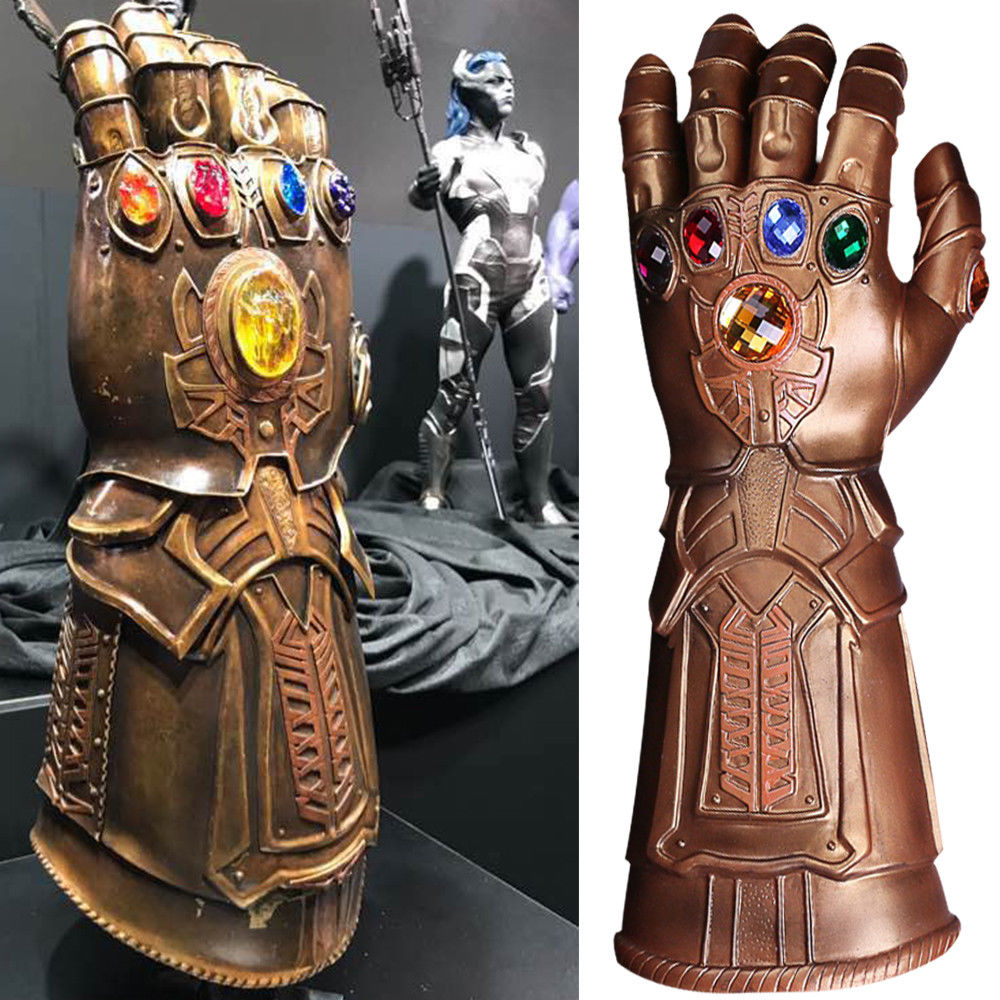 Thanos Infinity Gauntlet Avengers Infinity War Gloves Cosplay Superhero Avengers Thanos Mask Glove Halloween Party Props Deluxe