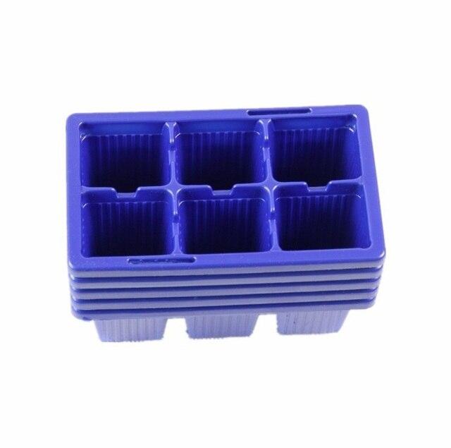 Box In Plastica Per Giardino.10 Pz Plastica Vivai 6 Fori Pianta Vassoio Piantina Piastra