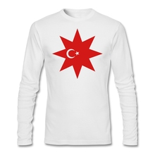 Long Sleeve Father's Day Custom Turkey Flag Star Shirt For Men Geek Big Size Couple Backing T Shirts