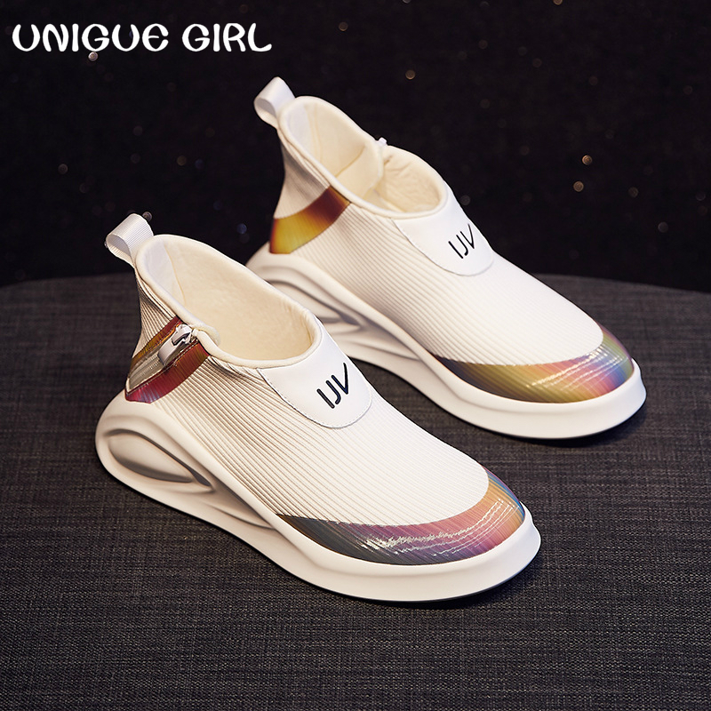 2019 New Spring New Women's Vulcanized Shoes Fashion Wild Casual Sports Shoes Women Comfortable Breathable Mesh Women's Shoes