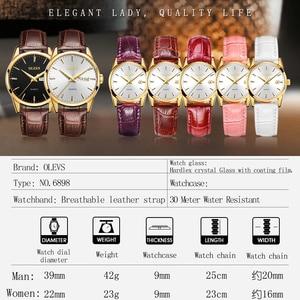 Image 5 - Olevs メンズ腕時計トップブランドの高級クォーツ腕時計リロイ hombre ファッションカジュアルビジネス革メンズ腕時計レロジオ masculino