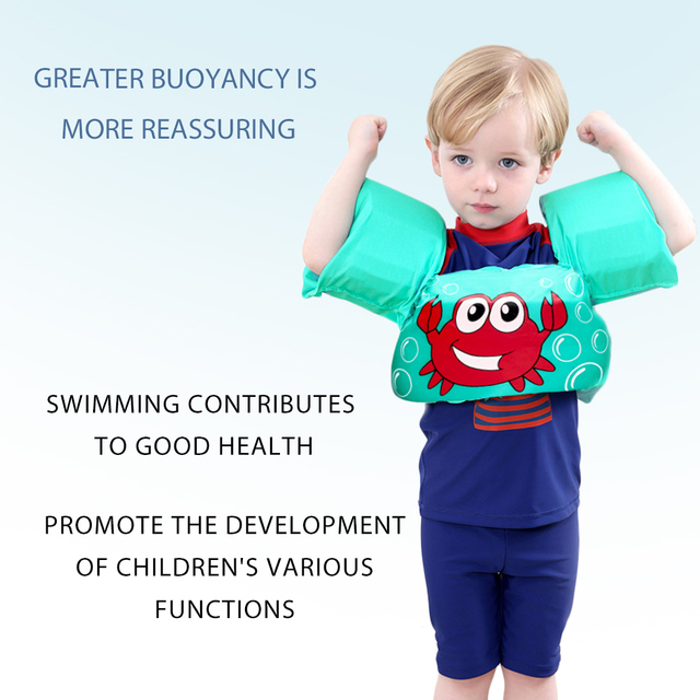 1-7Y Children Armband Swimming Vest Baby Cartoon Floating Arm Sleeve Life Jacket Safety Foam Baby Swimming Training Accessories 6