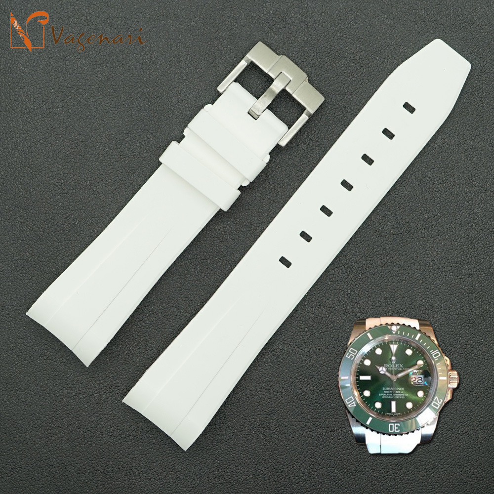 Rolex Rubber Us 196 99 Ru 02 White Rubber Watch Straps For Rolex Submariner 20 18mm With Tang Buckle In Watchbands From Watches On Aliexpress Alibaba Group