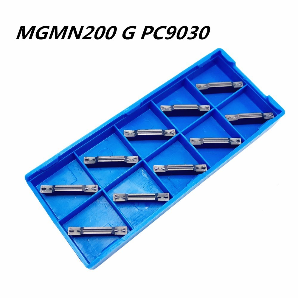 100Pcs Tungsten Carbide Slotting Tool MGMN200 G PC9030 2mm Carbide Insert Cutting Tool Lathe Tools CNC