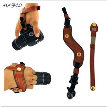 DSLR Camera Real Leather Grip Wrist Strap Soft Hand Grip Universal for Canon Nikon D5000 D3200 Sony Olympus Camera