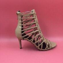 Nude Gladiator Sandal Women Real Photos High Heels Designer Shoes Women Luxury 2016 Size 4-15 Ladies Sandles Custom Colors