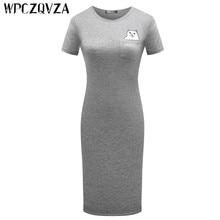 WPCZQVZA 2019 Cartoon Fashion Women Dress Summer Short Sleeve Lovely Slim Woman Simple Comfortable O-neck Dresses vestidos