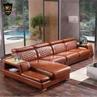high quality European living room leather sofa a1243