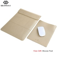 2016 Gearmax Laptop Sleeve Genuine Leather Sleeve 13 Notebook Case For Slim Laptops 11 12 13