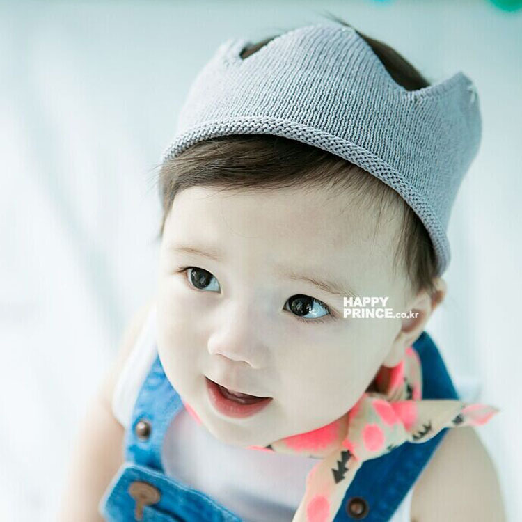 NewStyle 5 Colors Baby Girl Boy Crown Style Fashion Knit Handmade Crochet Hat Children Beanies Accessories
