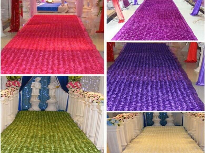 10 m / lot 1,4 m largeur romantique blanc 3D pétale de rose tapis - Pour les vacances et les fêtes - Photo 4