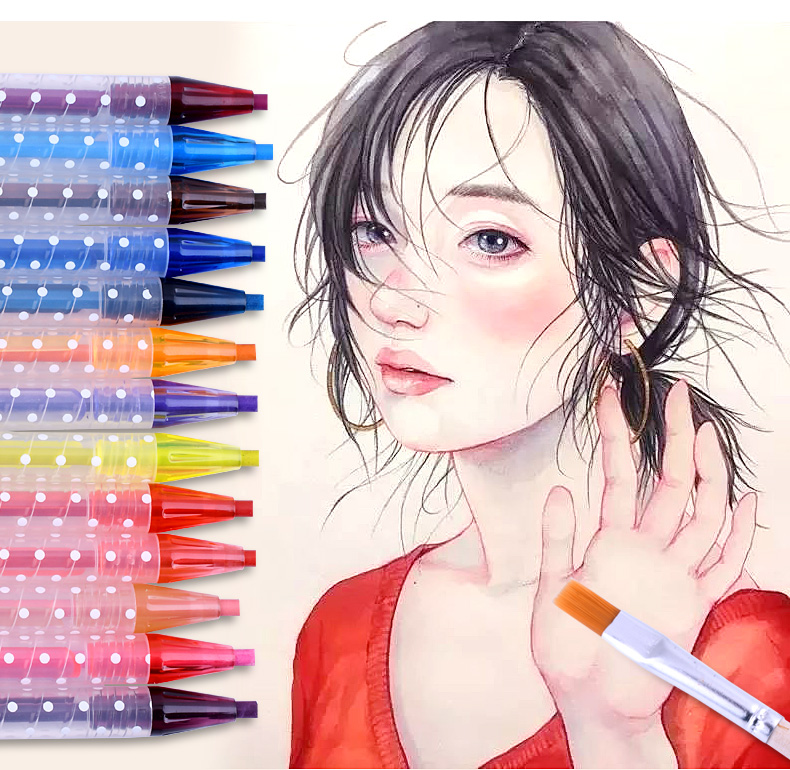 12/24/36 Colors Water Soluble Drawing Color Pencil Set Rotary Watercolor Pencils For Drawing 12 24 36 colors water soluble drawing color pencil set rotary watercolor pencils for drawing