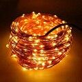 30 M 300 Led 12 V Alambre de Cobre LED Cadena Luces de Navidad Decoración Para El Hogar Starry Cuerdas al aire libre Llevó La Lámpara de Hadas Guirnalda luz